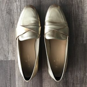 ♠️ KATE SPADE GOLD LOAFERS ♠️